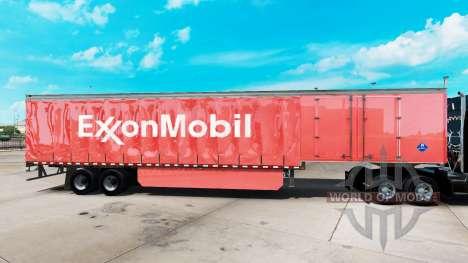 La peau d'ExxonMobil sur un rideau semi-remorque pour American Truck Simulator