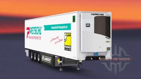 Semitrailer reefer EN Petschl pour Euro Truck Simulator 2