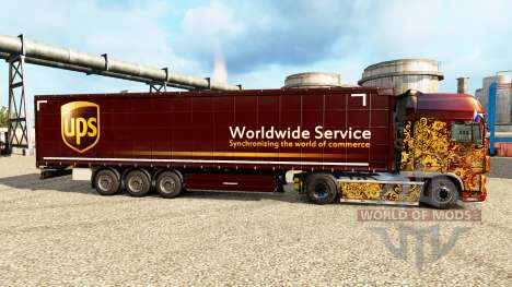 Haut UPS für Anhänger für Euro Truck Simulator 2