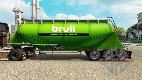 Haut Bruil Zement semi-trailer für Euro Truck Simulator 2