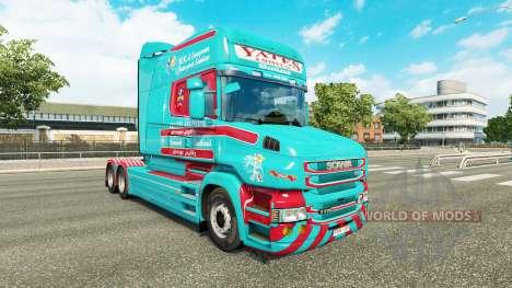 La peau Yates & Fils pour camion Scania T pour Euro Truck Simulator 2