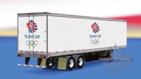 La peau de l'Équipe de GO sur frigorifique semi- pour American Truck Simulator