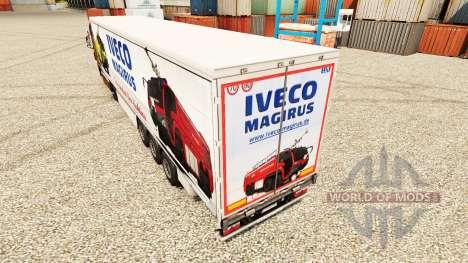 La peau Iveco Magirus pour les remorques pour Euro Truck Simulator 2