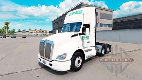 Скин Nere Transport daycab на Kenworth T680 pour American Truck Simulator