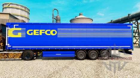 Gefco de la peau pour les remorques pour Euro Truck Simulator 2