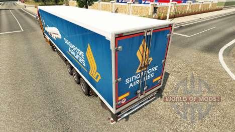 Singapore Airlines skin für Trailer für Euro Truck Simulator 2
