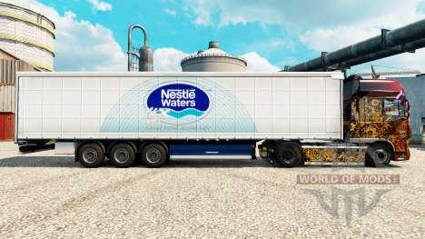 Nestle Waters de la peau pour les remorques pour Euro Truck Simulator 2
