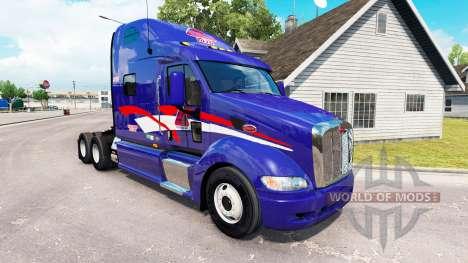 La Peau B. T. Inc. le tracteur Peterbilt 387 pour American Truck Simulator