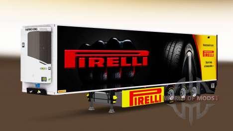 Semi-trailer-Kühlschrank Chereau Pirelli für Euro Truck Simulator 2