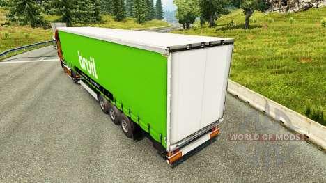 La peau Bruil sur semi pour Euro Truck Simulator 2