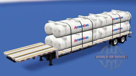 Bas de balayage avec les charges de la construct pour American Truck Simulator