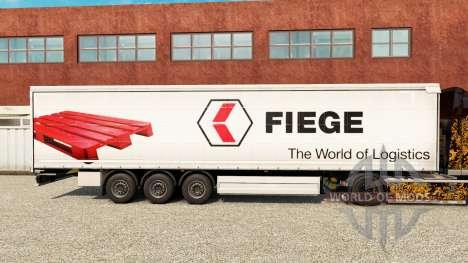 La peau Fiege sur un rideau semi-remorque pour Euro Truck Simulator 2