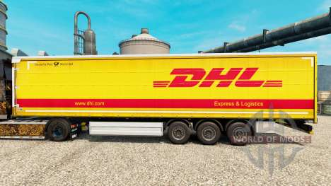La peau DHL pour v2 semi pour Euro Truck Simulator 2