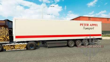 Peter Appel Haut für Anhänger für Euro Truck Simulator 2