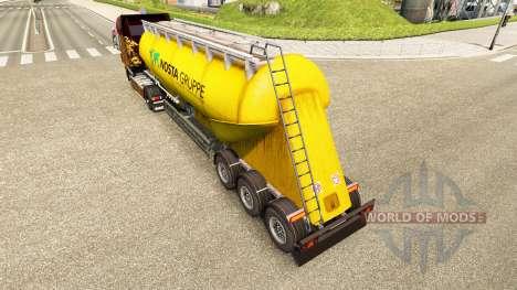 La peau Nosta Gruppe, le ciment de la semi-remor pour Euro Truck Simulator 2