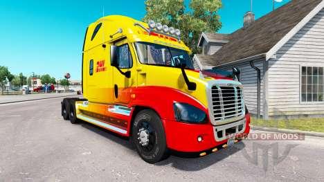 Haut DHL für Zugmaschine Freightliner Cascadia für American Truck Simulator