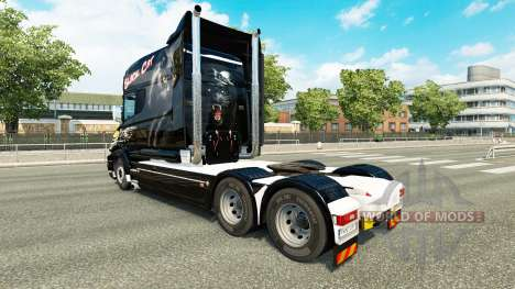 Black Cat-skin für den Scania T truck für Euro Truck Simulator 2