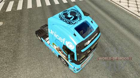 L'Unicef peau pour Volvo camion pour Euro Truck Simulator 2