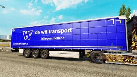 La peau De Wit le Transport de semi-remorques pour Euro Truck Simulator 2