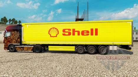 La peau Shell pour les semi-remorques pour Euro Truck Simulator 2