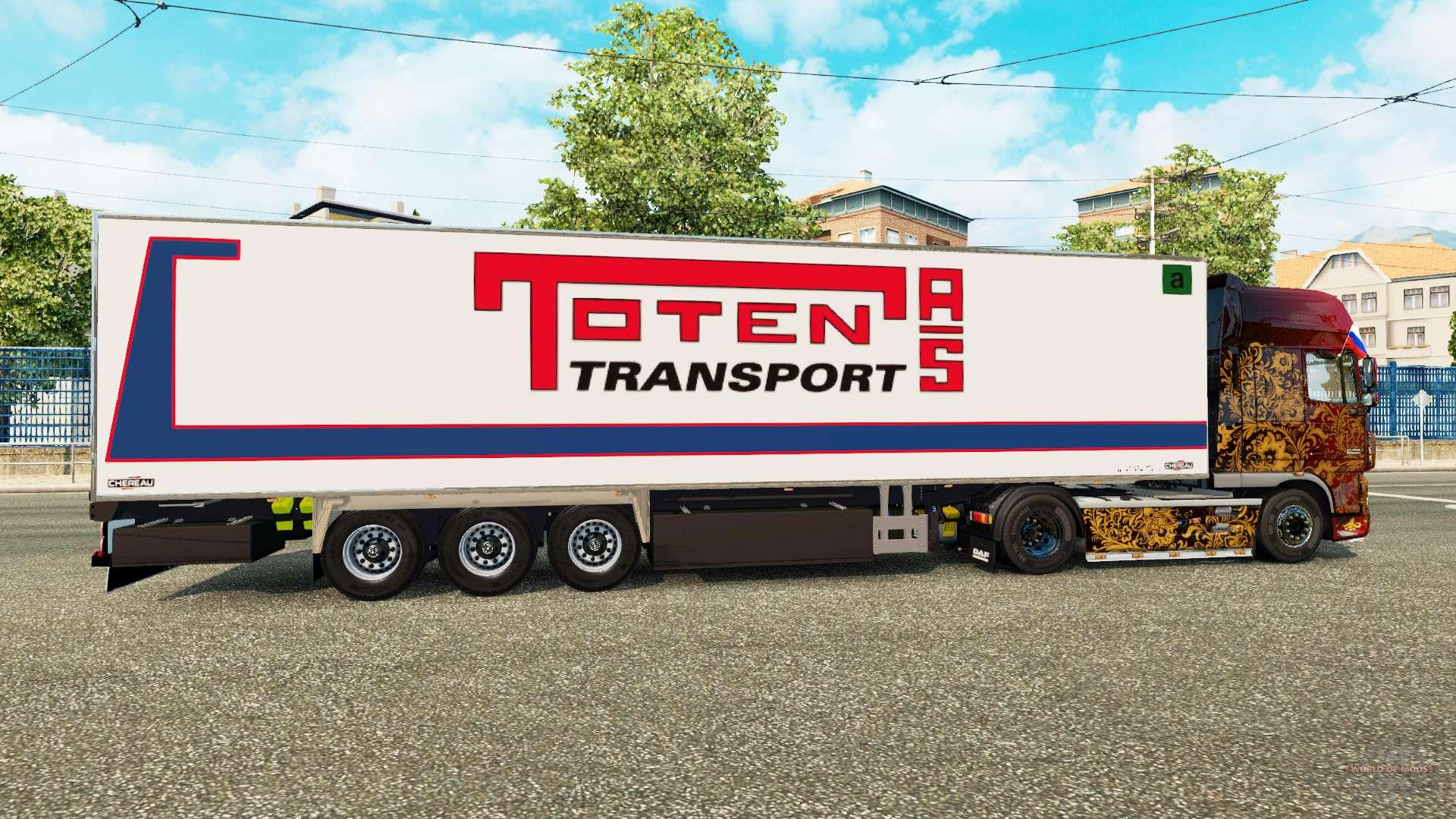 semi remorque frigo chereau toten de transport pour euro truck simulator 2. Black Bedroom Furniture Sets. Home Design Ideas