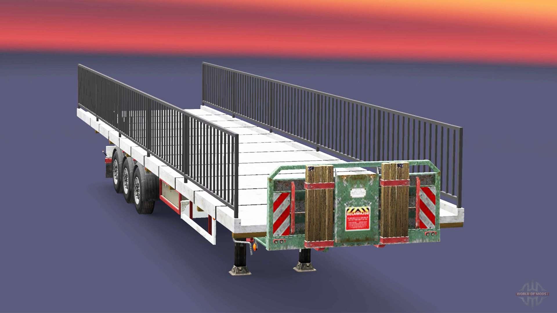 semi boden mit dem gewicht der br cke element f r euro truck simulator 2. Black Bedroom Furniture Sets. Home Design Ideas
