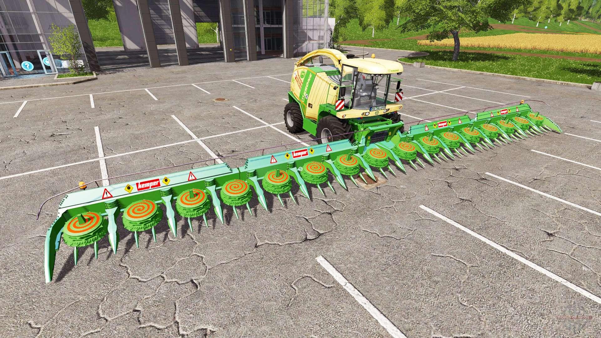 Harvester Kemper 2020 für Landwirtschafts-Simulator 17.