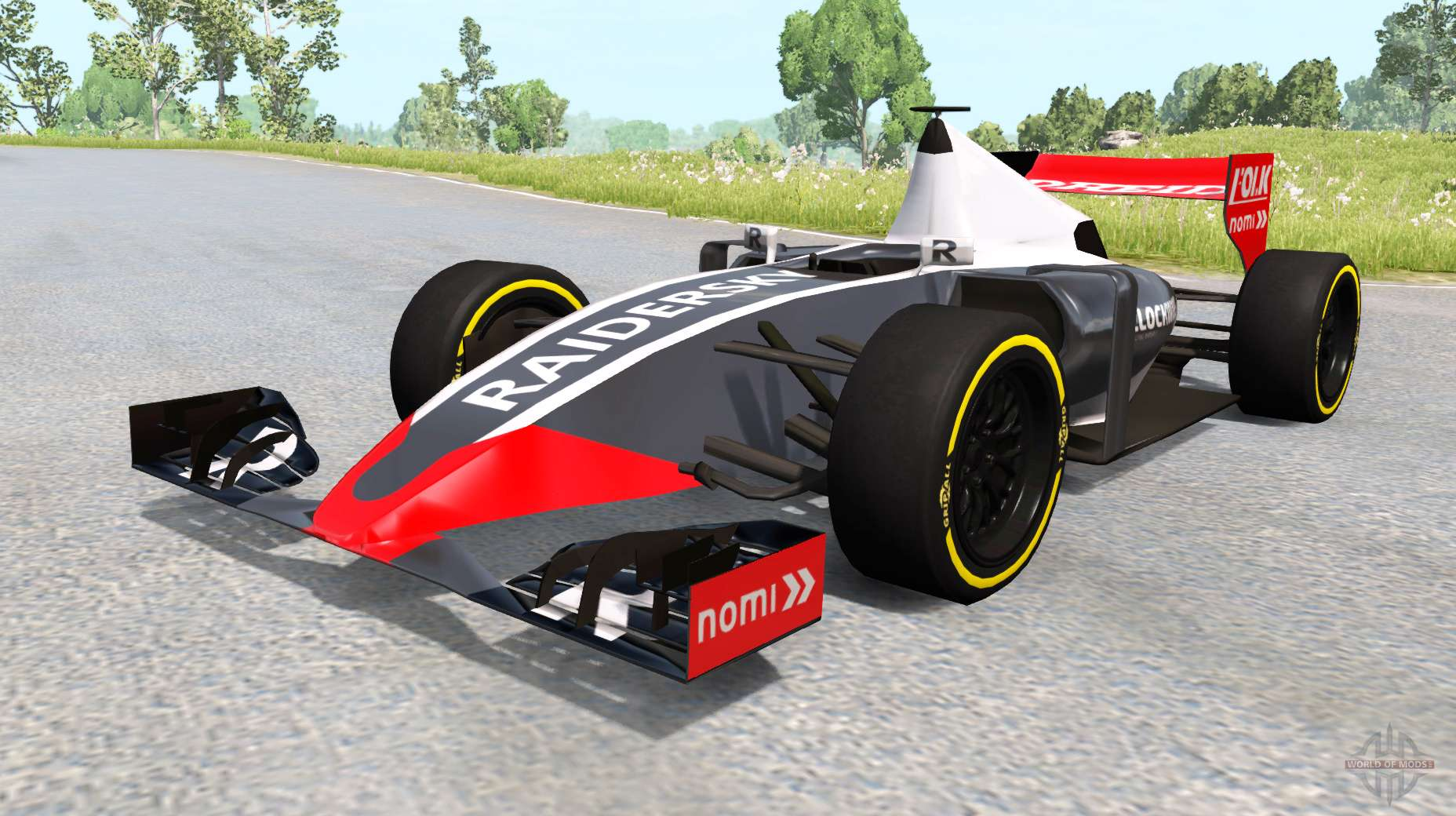 une voiture de formule 1 pour beamng drive. Black Bedroom Furniture Sets. Home Design Ideas