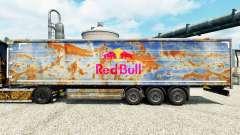 Red Bull de la peau pour les remorques