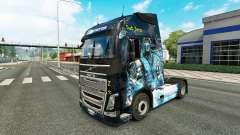 La peau est Sous Zéro sur la Volvo trucks