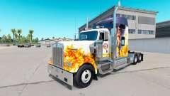 La peau du sapeur-Pompier sur le camion Kenworth