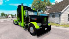 La peau Monster Energy Vert sur le camion Peterb