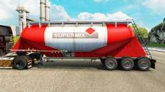 Haut Supermix Zement semi-trailer