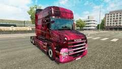 Weltall de la peau pour camion Scania T