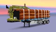 Un camion semi-remorque de cargaison Huttner