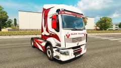 La peau Métallique pour tracteur Renault