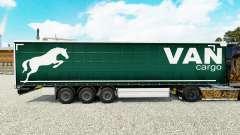 Haut auf einen Vorhang Cargo Van semi-trailer