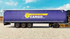 Haut PKS International Cargo S. A. auf dem Anhän
