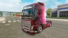 Weltall-skin für den Volvo truck