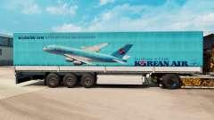 La peau de Korean Air pour les remorques