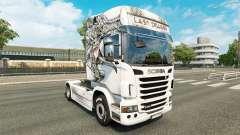 La peau Dernier Dragon sur tracteur Scania