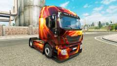 L'incendie Effet de la peau pour Iveco tracteur