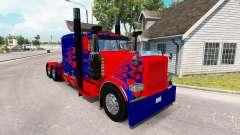 Optimus Prime peau pour le camion Peterbilt 389