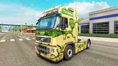 La peau sur la Couronne tracteur routier Volvo