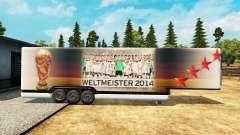 La semi-remorque-le réfrigérateur de la Coupe du