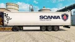 La peau Camion Scania Pièces de semi-remorques