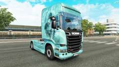 Crâne de la peau pour camion Scania