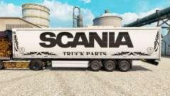 Die Haut weiß Scania LKW-Teile für semi-Trailer