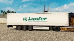 La peau Lanfer de la Logistique pour les remorqu