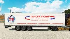 Haut Thaler Trans auf einen Vorhang semi-trailer